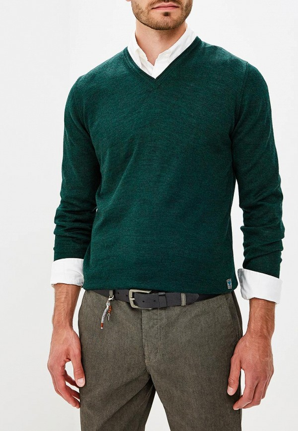 Пуловер  зеленый цвета