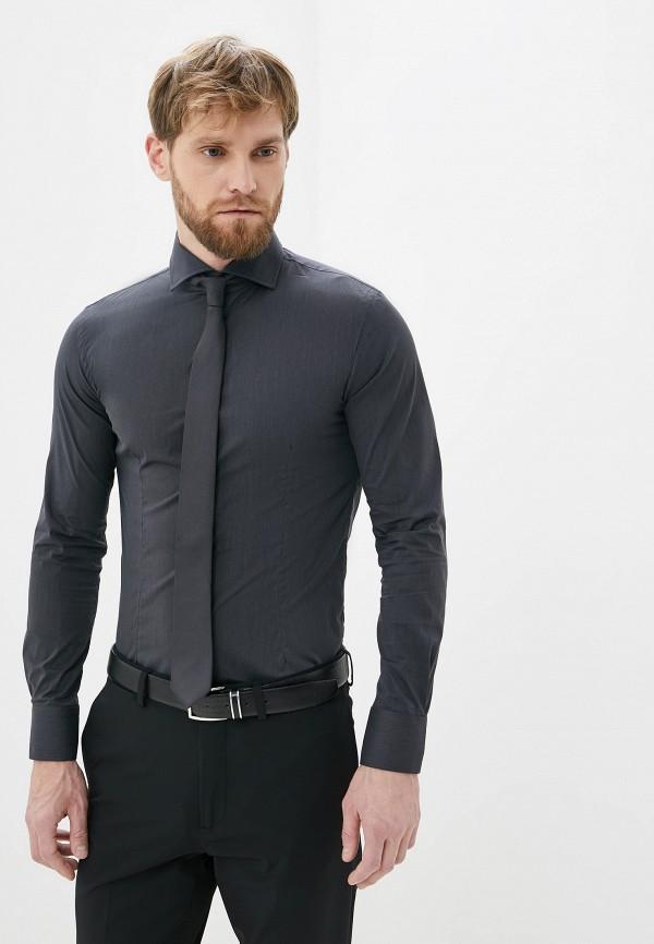 мужская рубашка с длинным рукавом primo emporio, серая