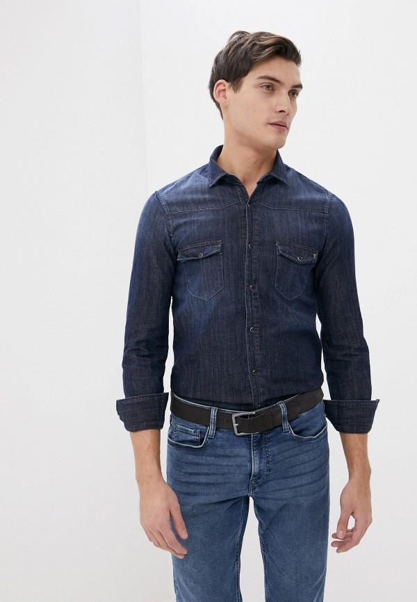 мужская джинсовые рубашка primo emporio, синяя