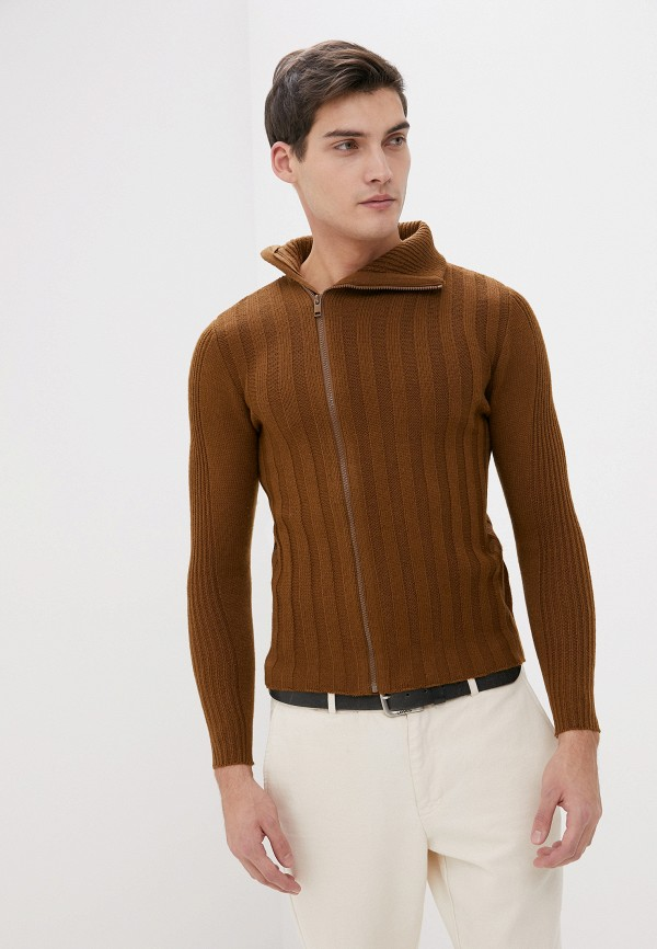 мужской кардиган primo emporio, коричневый
