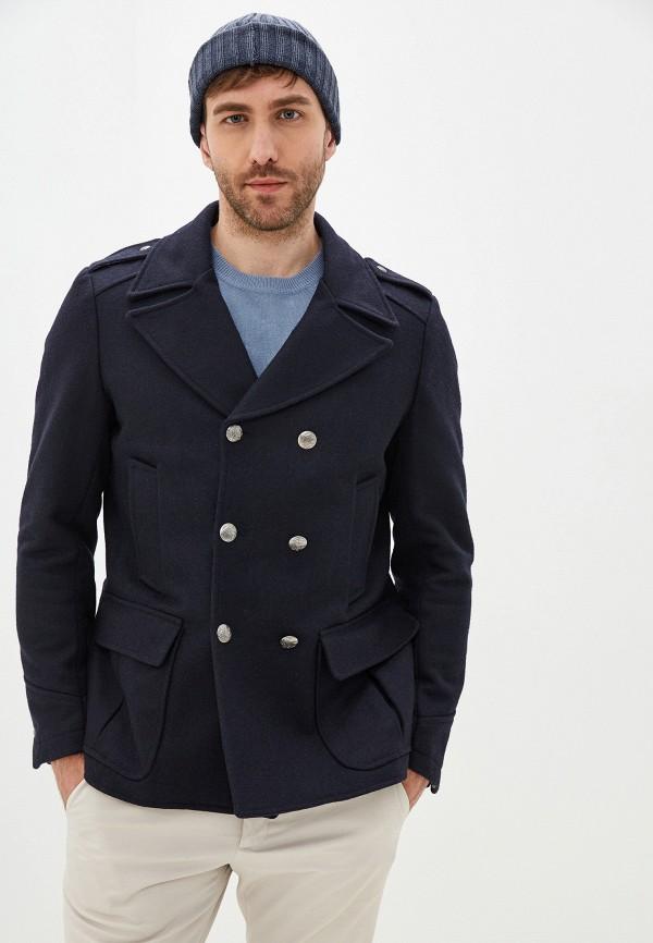 мужское пальто primo emporio, синее