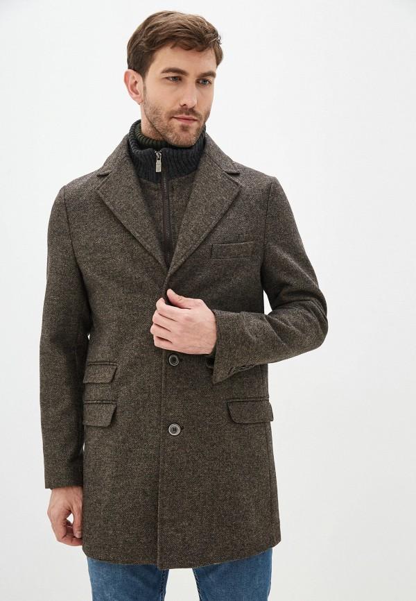 мужское пальто primo emporio, коричневое