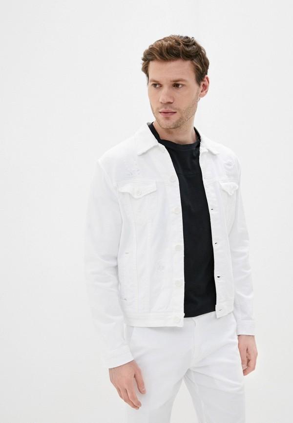 мужская джинсовые куртка primo emporio, белая