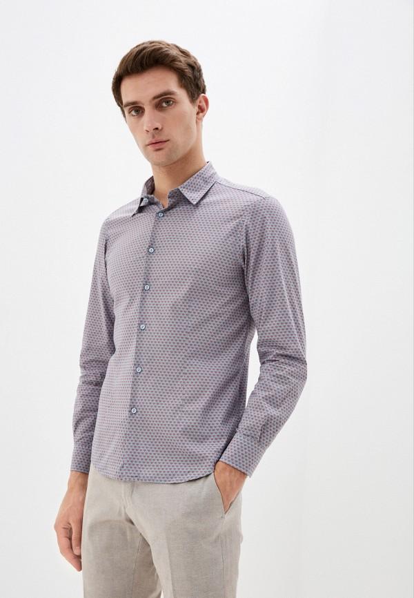 мужская рубашка с длинным рукавом primo emporio, голубая