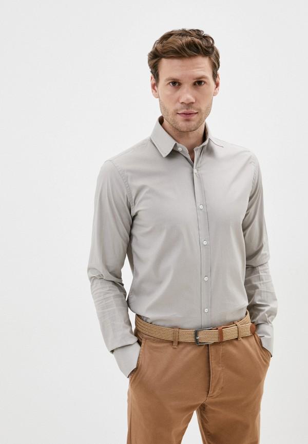мужская рубашка с длинным рукавом primo emporio, бежевая