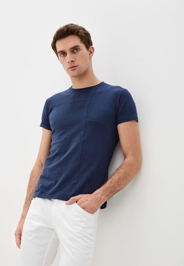 мужская футболка с коротким рукавом primo emporio, синяя