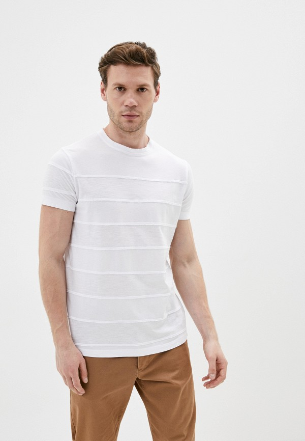 мужская футболка с коротким рукавом primo emporio, белая