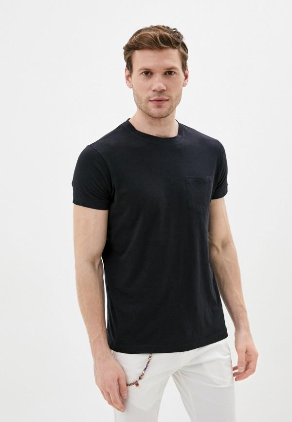 мужская футболка с коротким рукавом primo emporio, черная