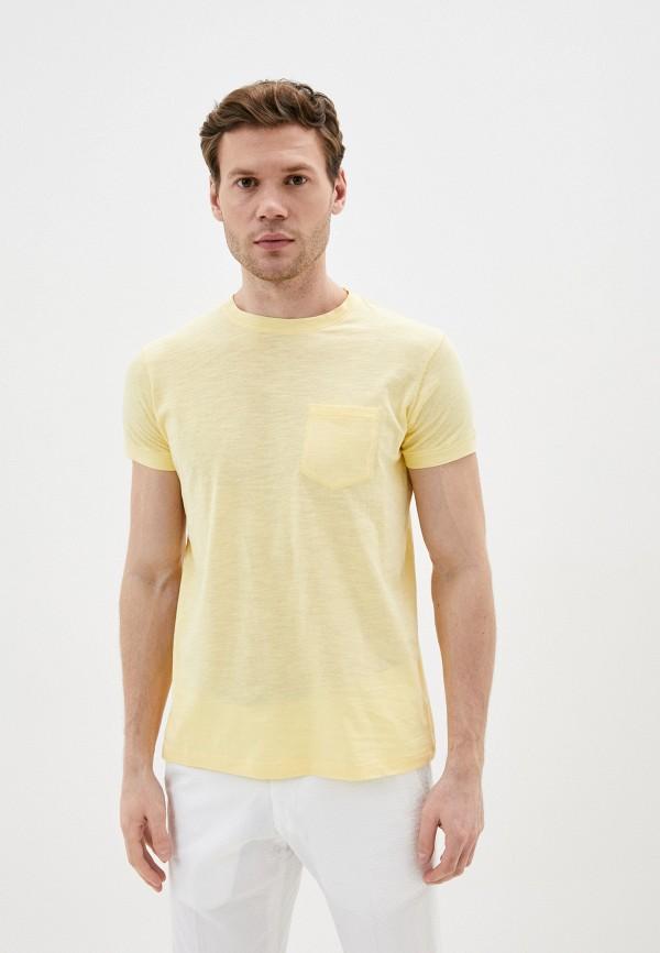 мужская футболка с коротким рукавом primo emporio, желтая