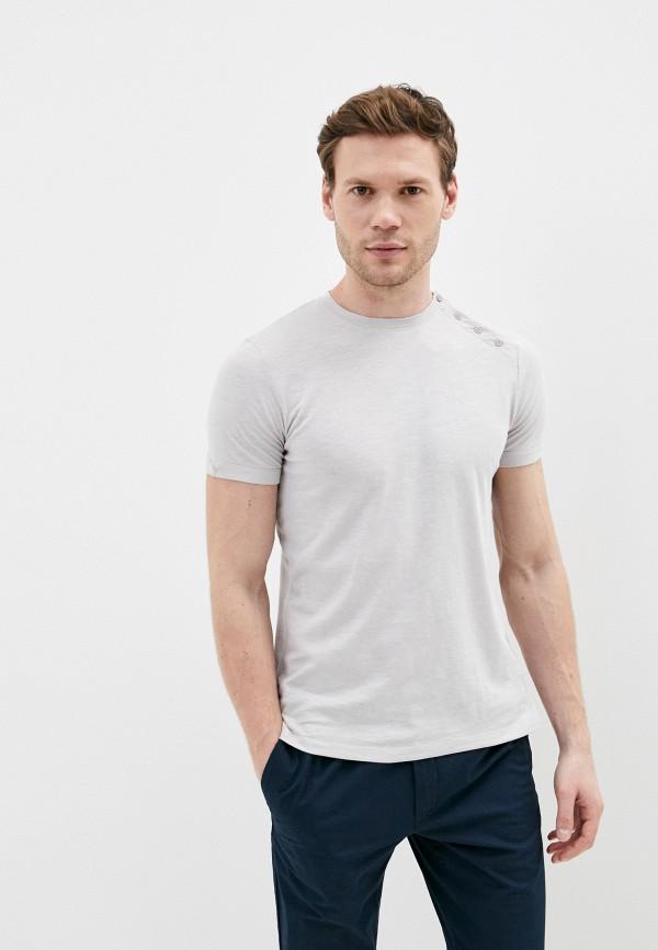 мужская футболка с коротким рукавом primo emporio, серая