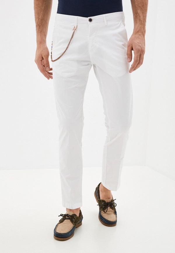 мужские зауженные брюки primo emporio, белые