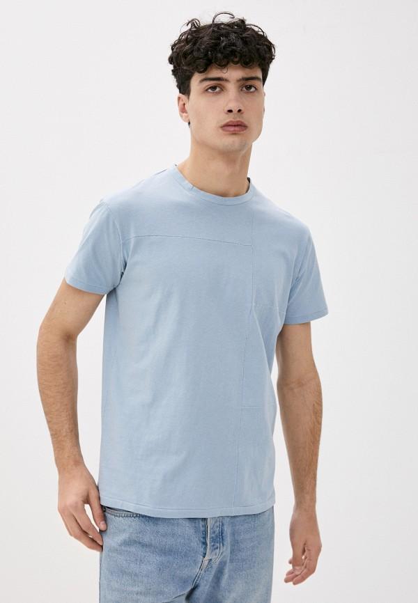 мужская футболка с коротким рукавом primo emporio, голубая