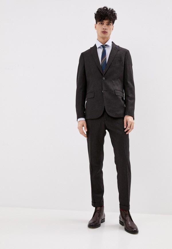 мужской костюм primo emporio, коричневый