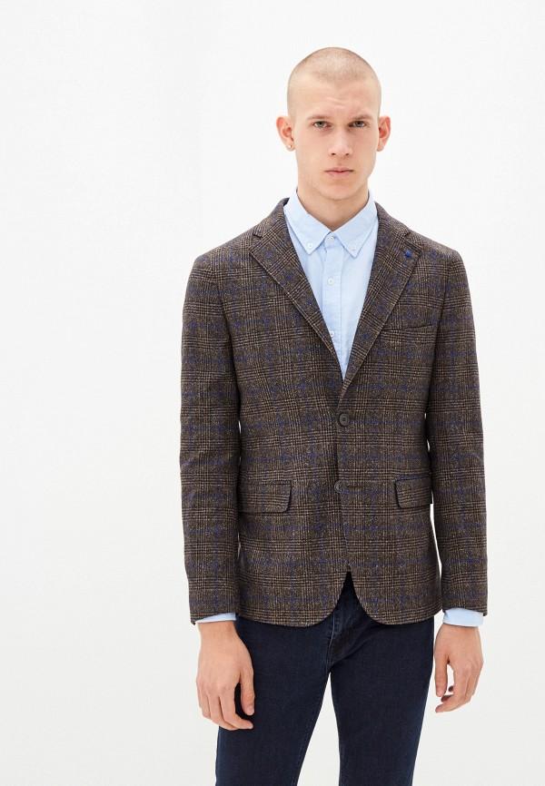 мужской пиджак primo emporio, коричневый