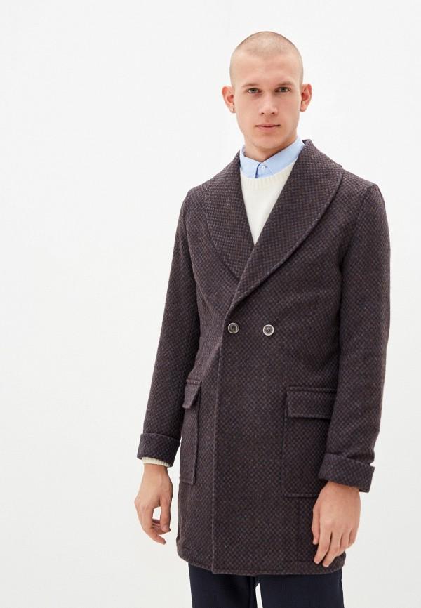 мужское пальто primo emporio, фиолетовое