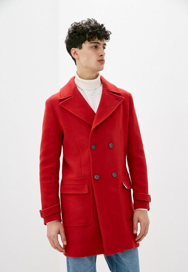 мужское пальто primo emporio, красное
