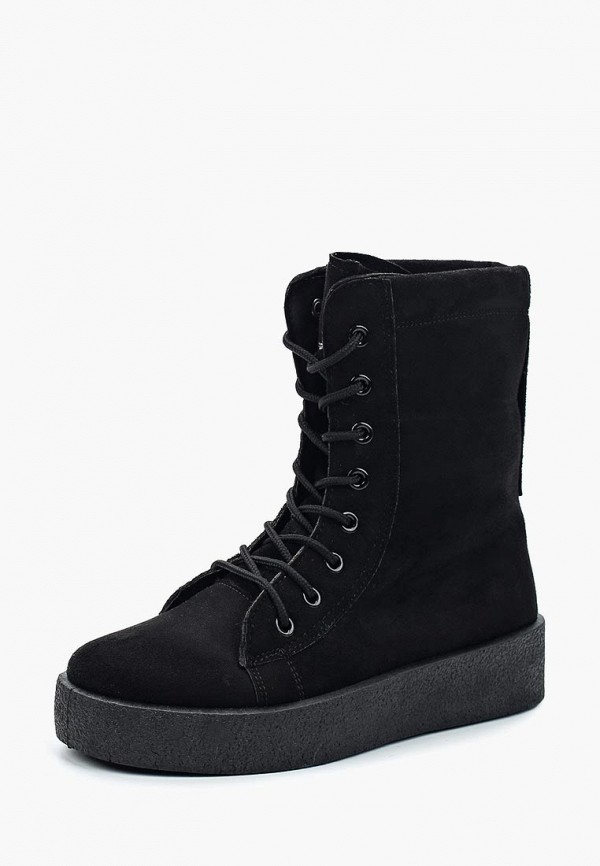 Фото - женские ботинки и полуботинки PTPT черного цвета