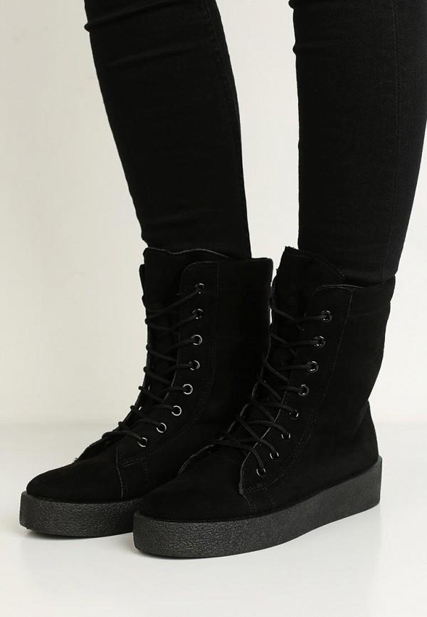 Фото 5 - женские ботинки и полуботинки PTPT черного цвета