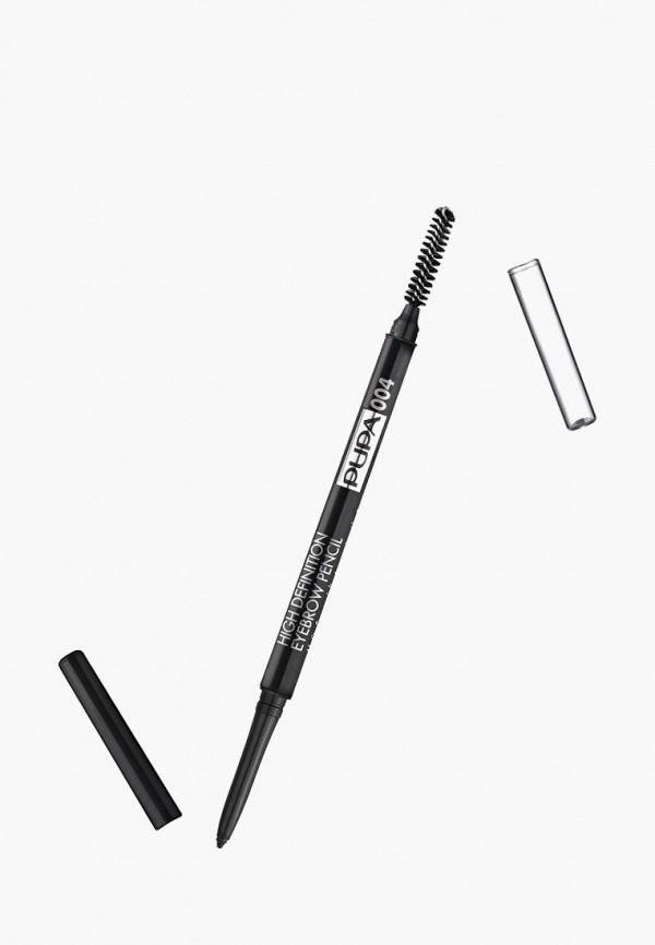 карандаш для бровей pupa, черный
