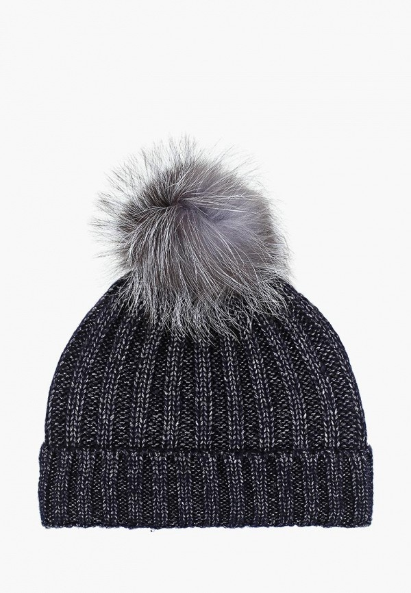 женская шапка pur pur, синяя