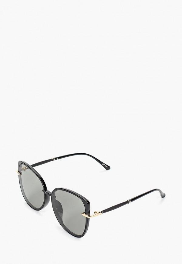 женские солнцезащитные очки кошачьи глаза pur pur, черные