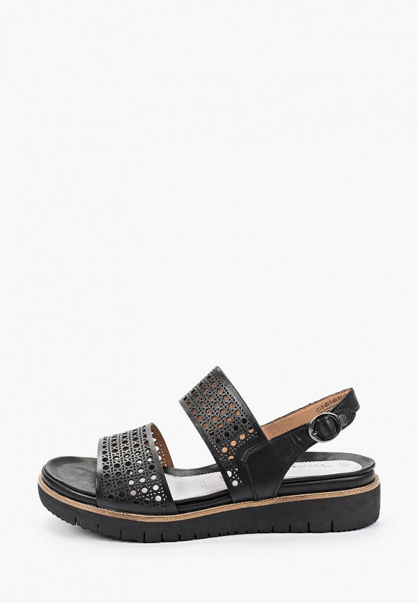 женские сандалии pure relax by tamaris, черные