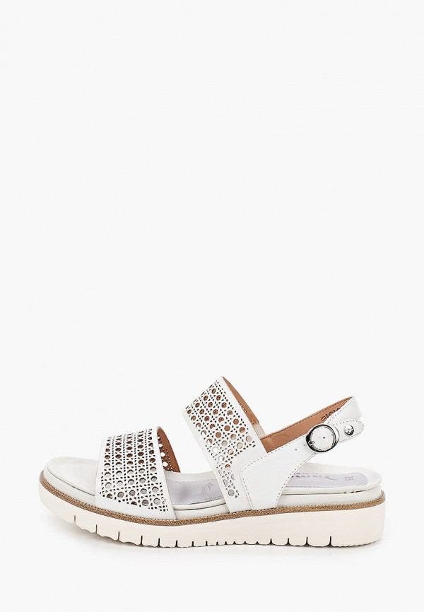 женские сандалии pure relax by tamaris, белые
