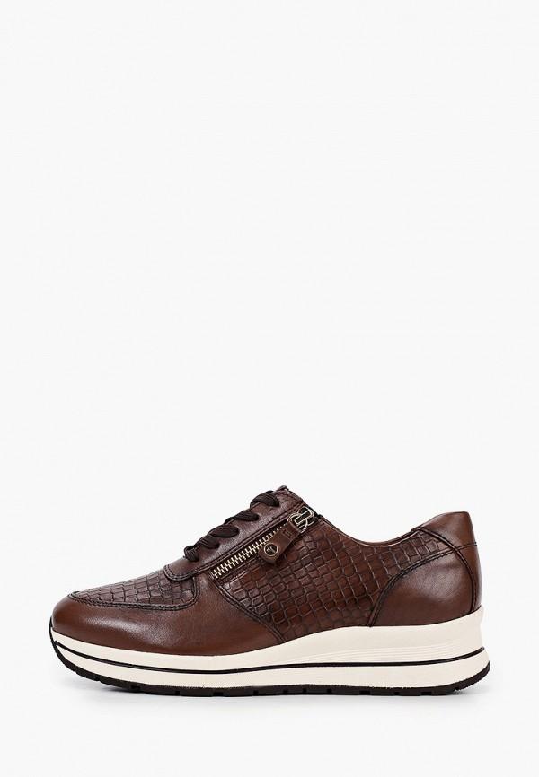 женские кроссовки pure relax by tamaris, коричневые