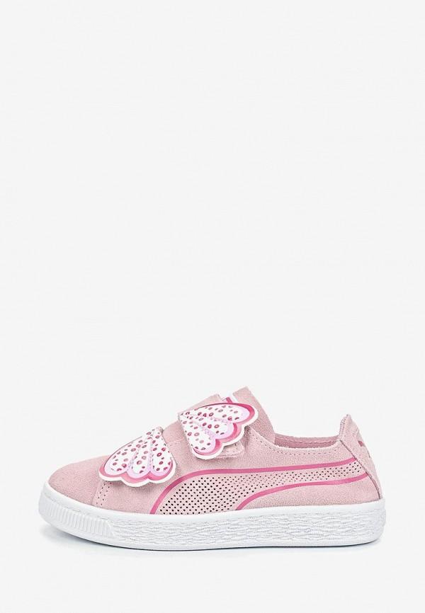 кеды puma для девочки, розовые