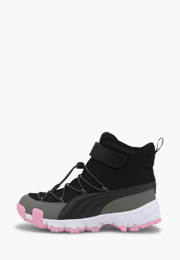 ботинки puma для девочки, черные