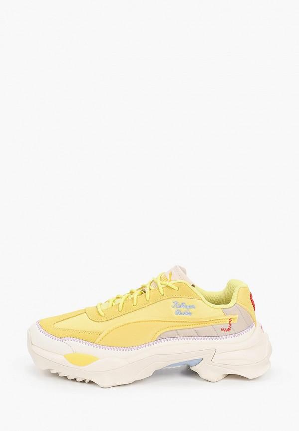 женские кроссовки puma, желтые