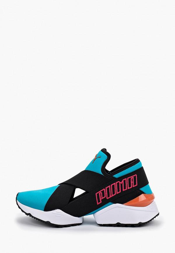 женские кроссовки puma, голубые