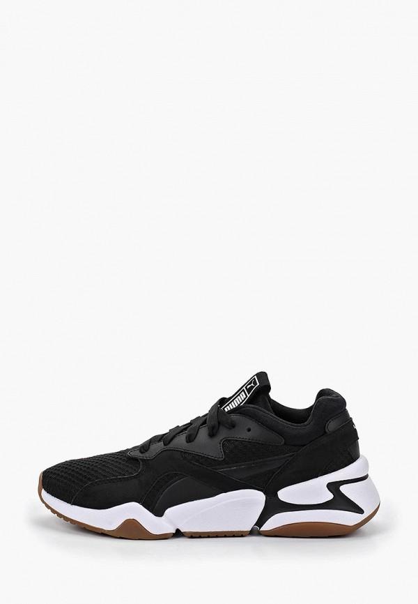женские кроссовки puma, черные