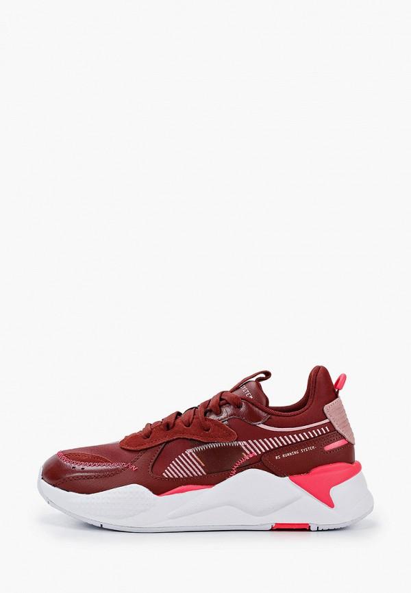 женские кроссовки puma, бордовые