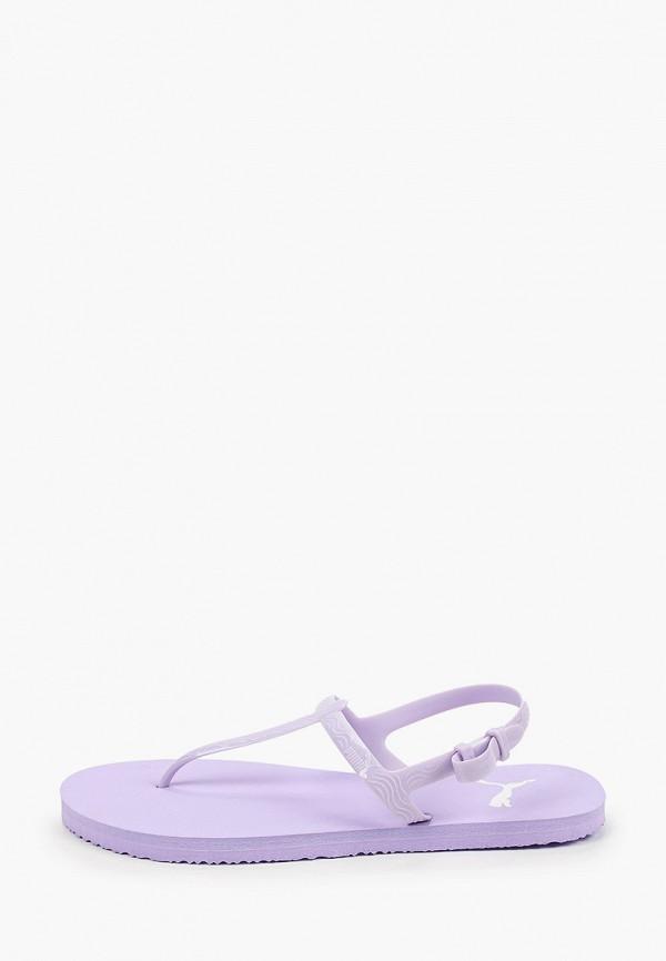 Сандалии PUMA фиолетового цвета