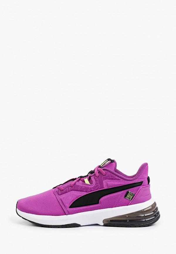 женские низкие кроссовки puma, фиолетовые