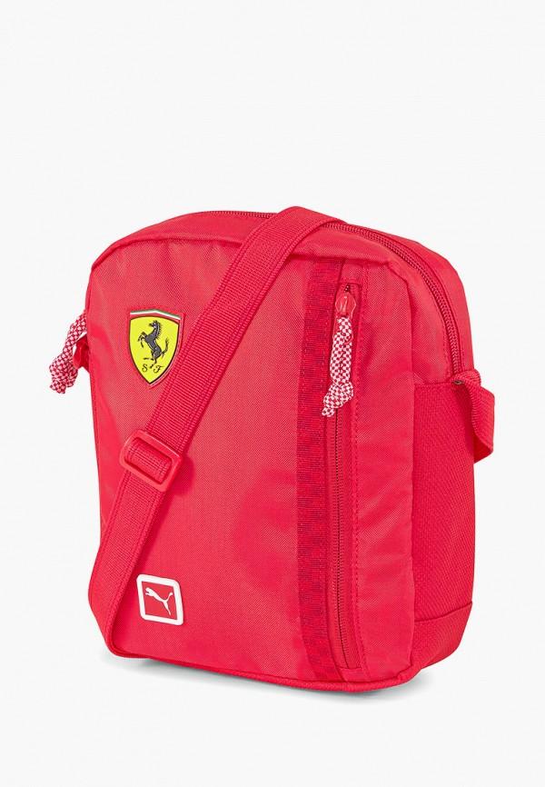 мужская сумка через плечо puma, красная