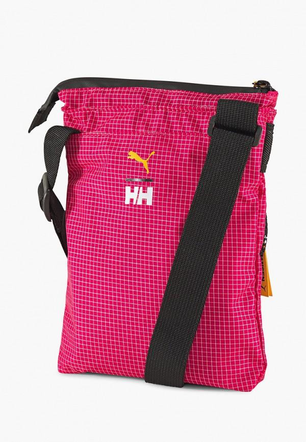 мужская сумка через плечо puma, розовая