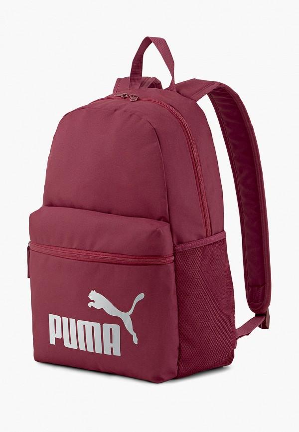 женский рюкзак puma, бордовый
