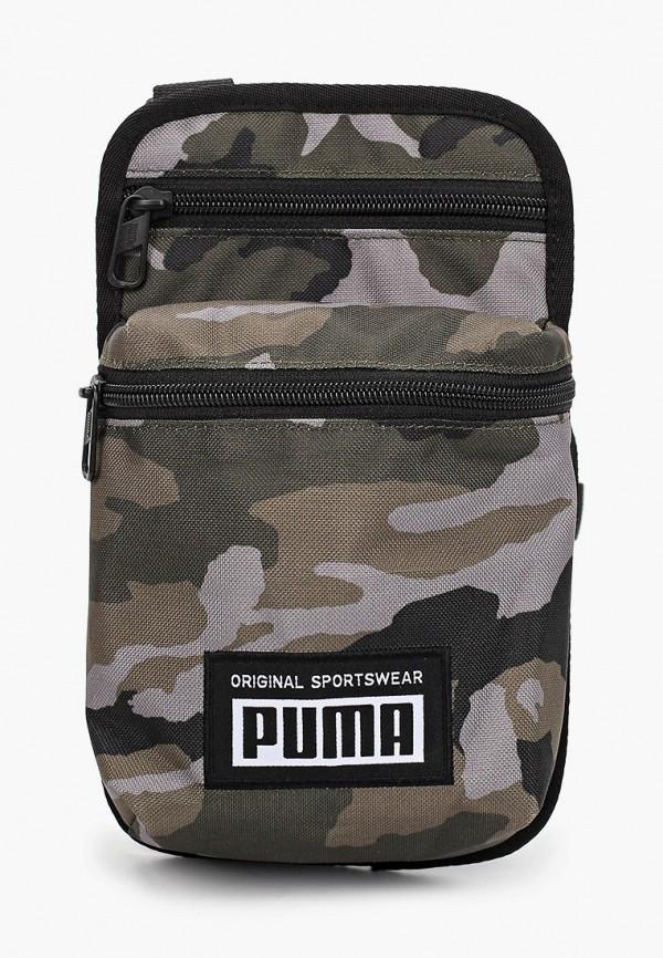 женская сумка через плечо puma, хаки