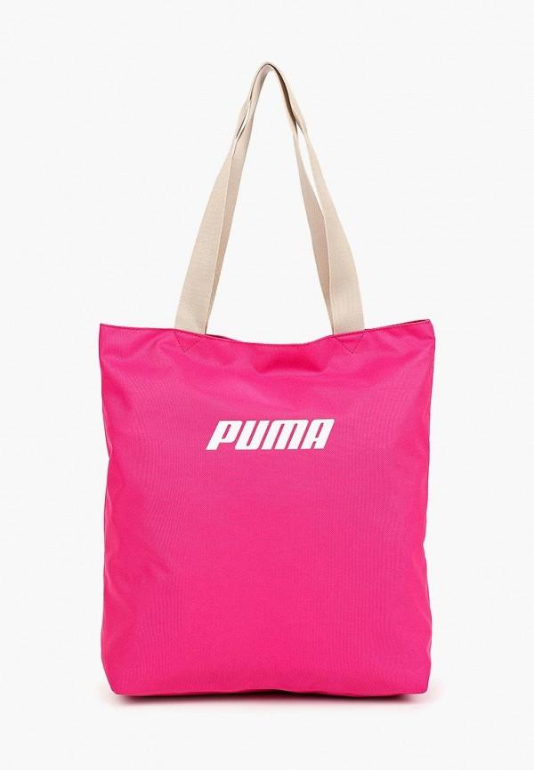 Купить Сумки, Сумка PUMA, WMN Core Shopper, pu053bwfdzy6, розовый, Весна-лето 2019