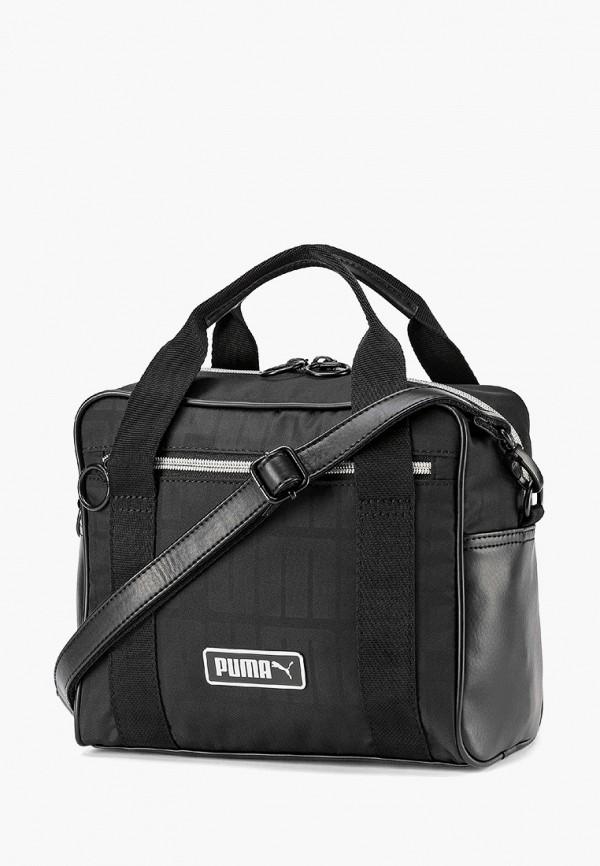 женская сумка через плечо puma, черная