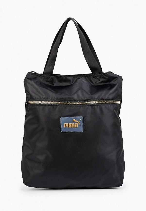 женская сумка-шоперы puma, черная