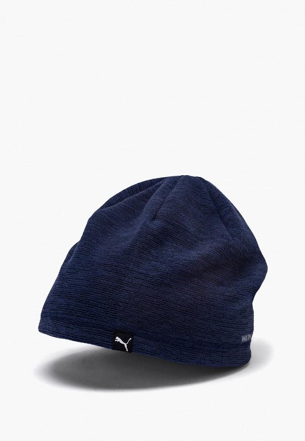 женская шапка puma, синяя
