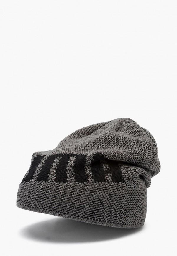 женская шапка puma, серебряная