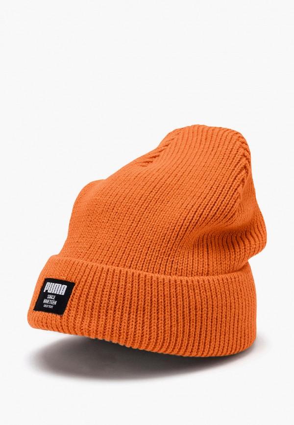 женская шапка puma, оранжевая
