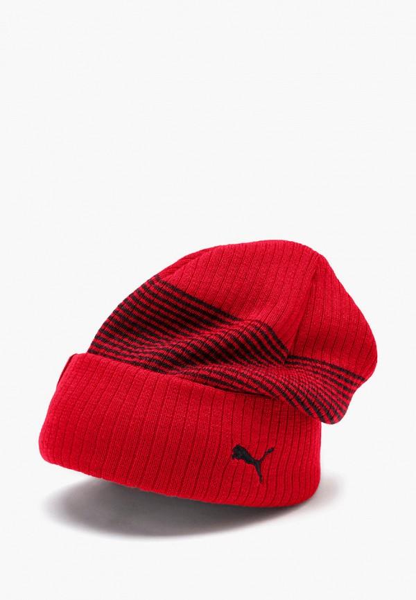 женская шапка puma, красная