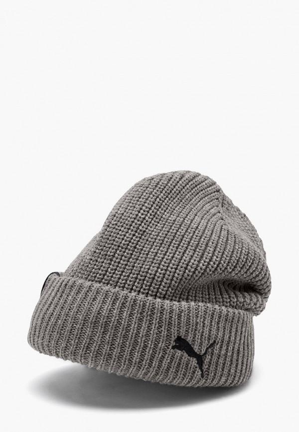 женская шапка puma, серая