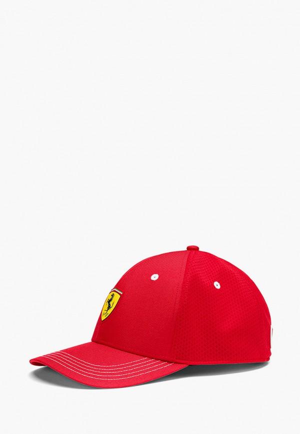 женская бейсболка puma, красная