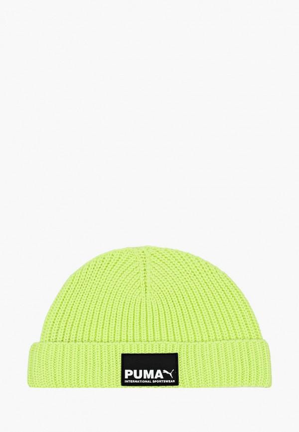 женская шапка puma, желтая